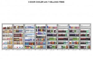 Kellogg's 8 Door Cooler with 7