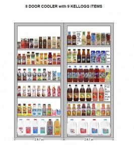 8 Door Cooler with 9 Kellogg's Items Planogram 2