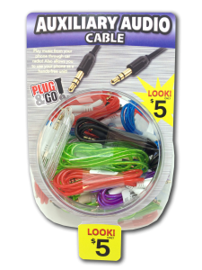 Tell Industries Auxillary Audio Cable