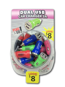 Tell Industries Dual Car Charger