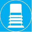 shipper blue button